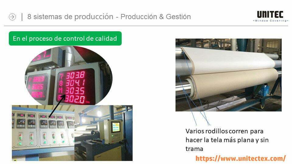 sistema de control de calidad de UNITEC Cortinas roller, Cortinas screen