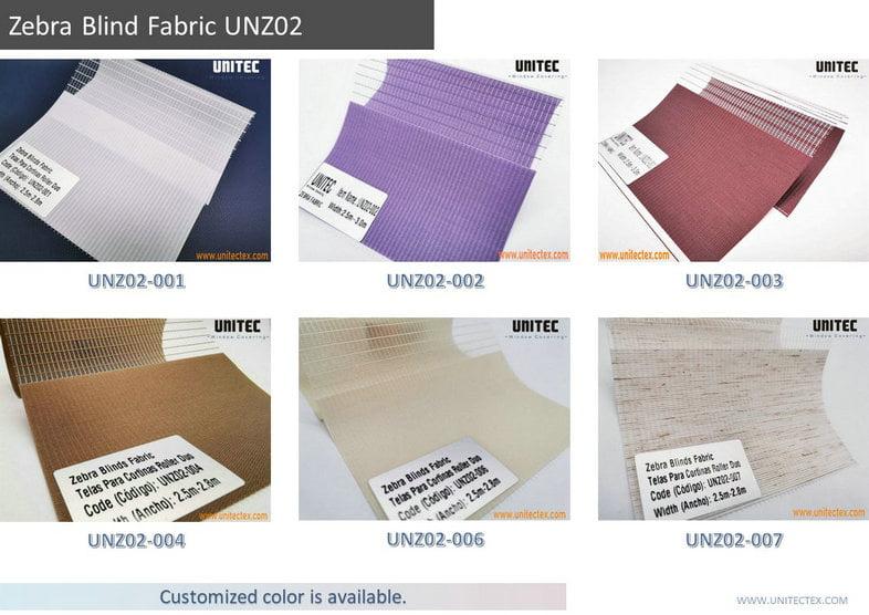 Telas de Cortinas Roller Dúo Día Y Noche Persianas de visión doble translúcidas o blackout para ventanas UNZ02