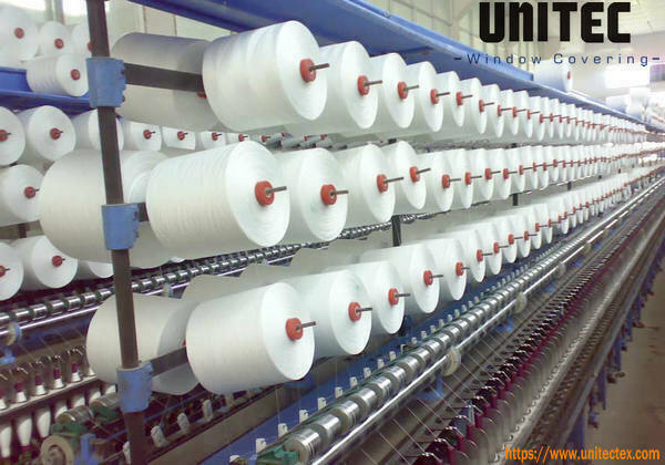Hilo de fibra de vidrio de tela impermeable para persianas enrollables de PVC opaco