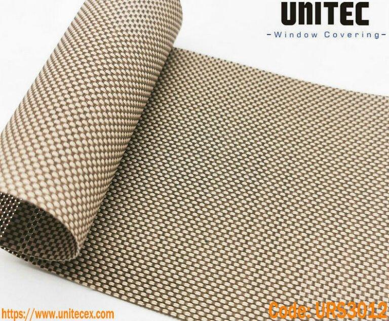 Telas de cortinas roller screen Marfil + Carbón URS3012